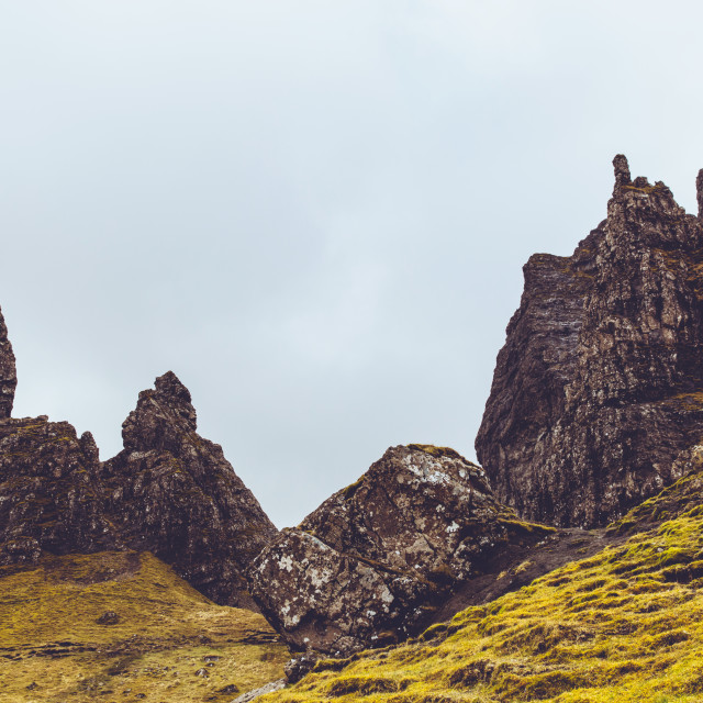 """Old Man of Storr, Isle of Skye, Scotland"" stock image"
