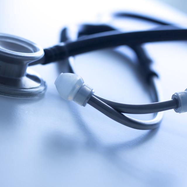 """Doctor's medical stethoscope"" stock image"