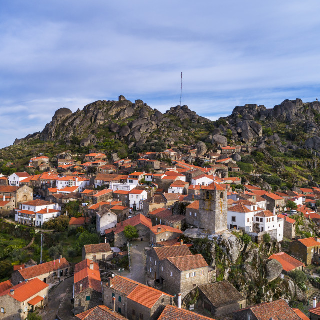"""""""Aerial view of the historic village of Monsanto in Portugal; Concept for travel in Portugal"""" stock image"""