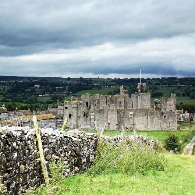 """Castle of King Richard III in Middleham"" stock image"