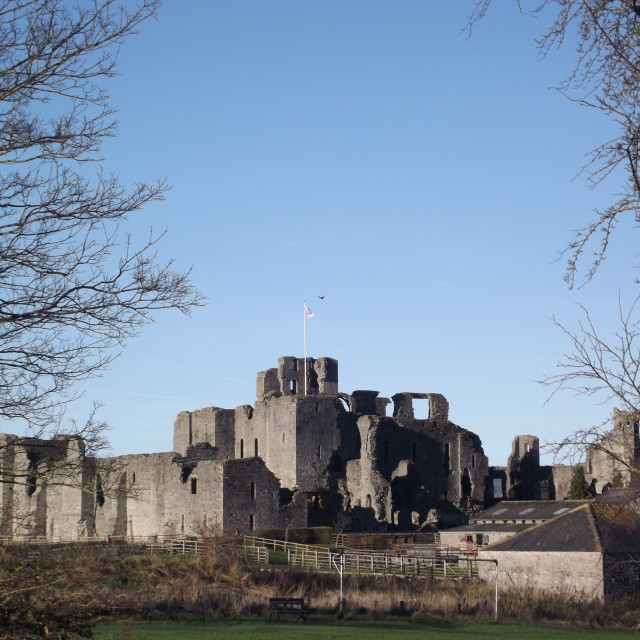 """The Castle at Middleham"" stock image"