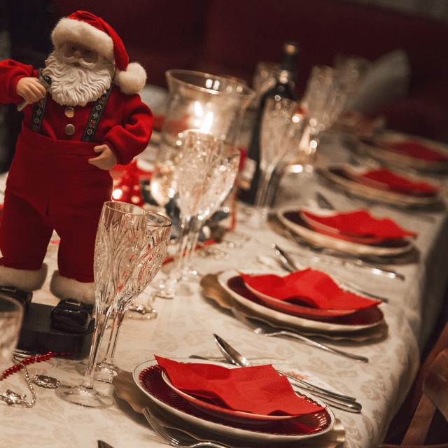 """Santa Xmas table"" stock image"