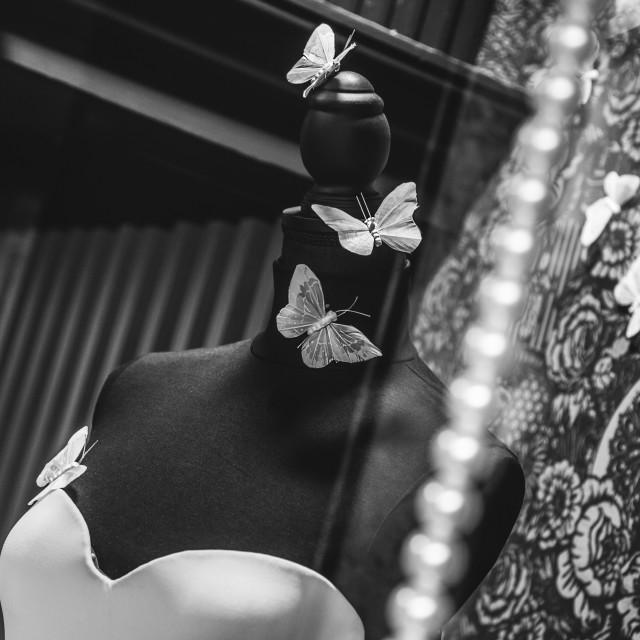 """""""Mannequin wedding butterflies"""" stock image"""