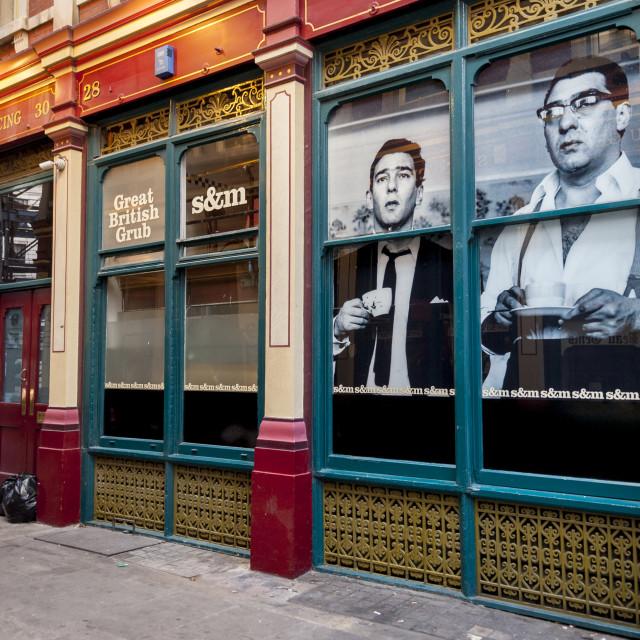 """S & M, Great British Grub Cafe, Leadenhall Market"" stock image"