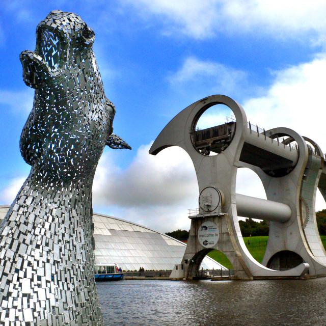 """Falkirk Wheel, Scotland"" stock image"