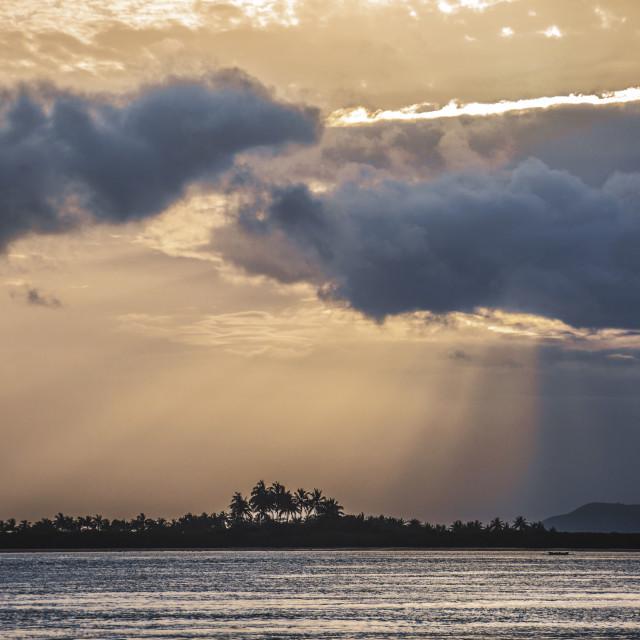 """""""Sunrise in Siargao island"""" stock image"""