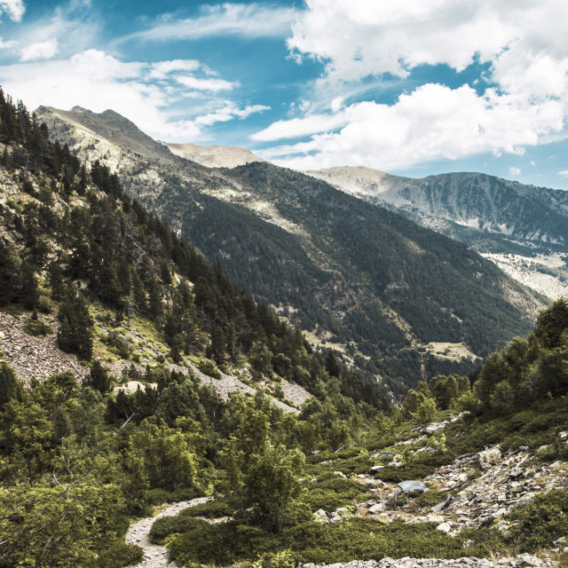 """Andorra landscape"" stock image"