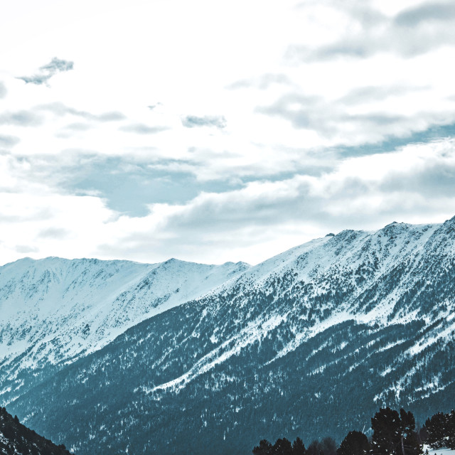 """""""Cold mountains in France"""" stock image"""