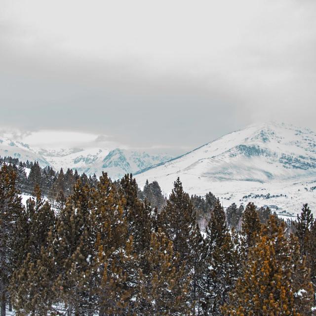 """Porté Pyrenean mountains"" stock image"