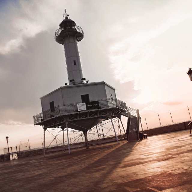 """Tarragona lighthouse"" stock image"