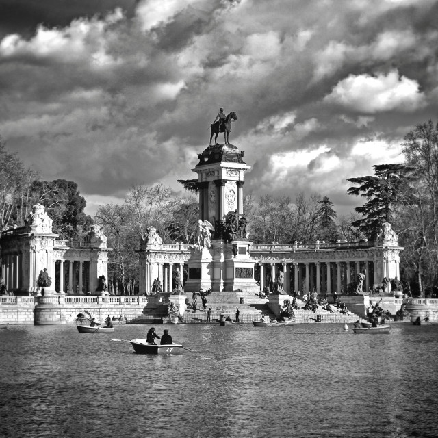 """Retiro's park"" stock image"