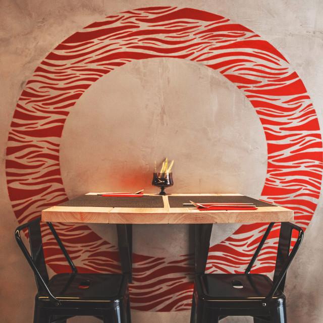 """Kappo restaurant table set"" stock image"