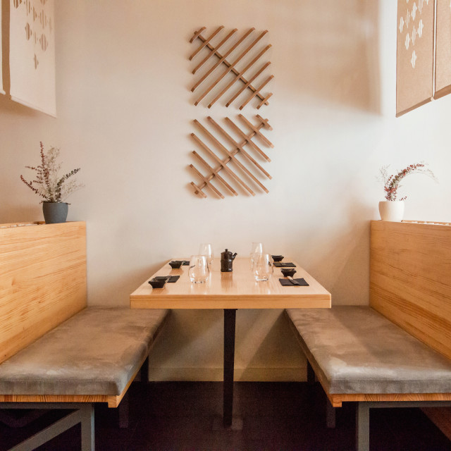"""Japanese dining room"" stock image"