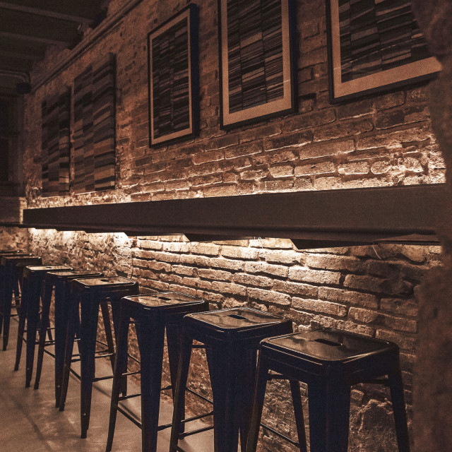 """Bar with stools"" stock image"