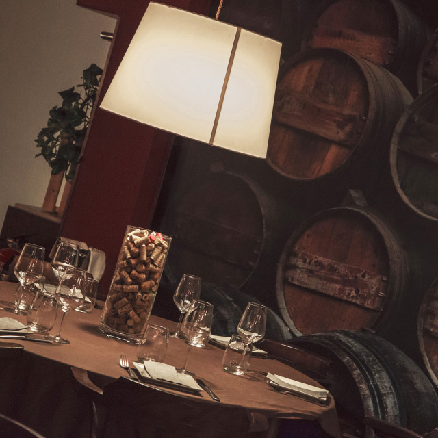 """Wine restaurant"" stock image"
