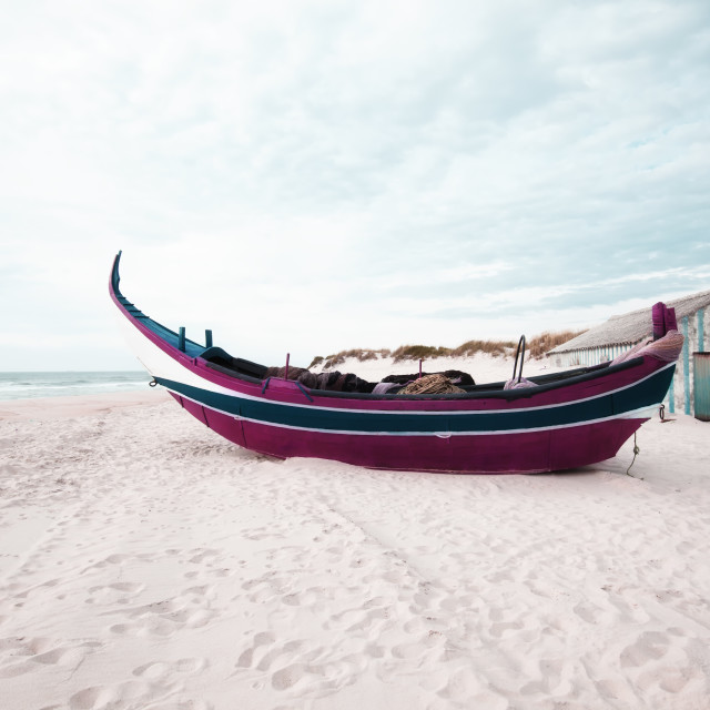 """Traditional boat Portuguese"" stock image"