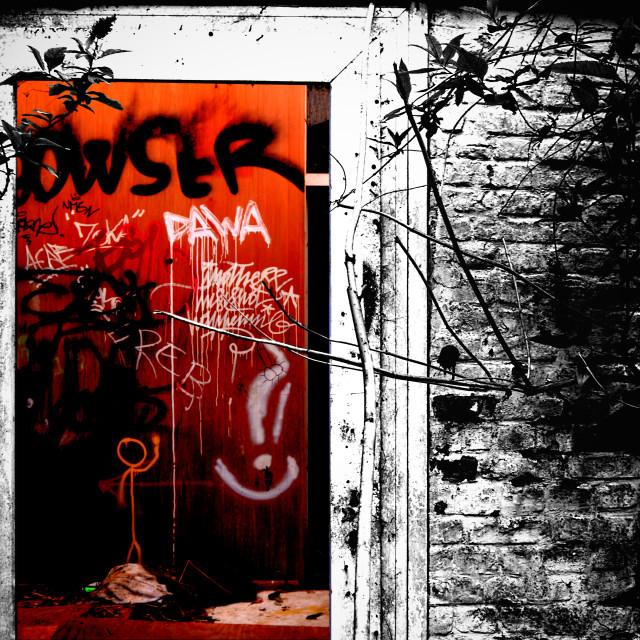 """""""Abandoned street photography"""" stock image"""