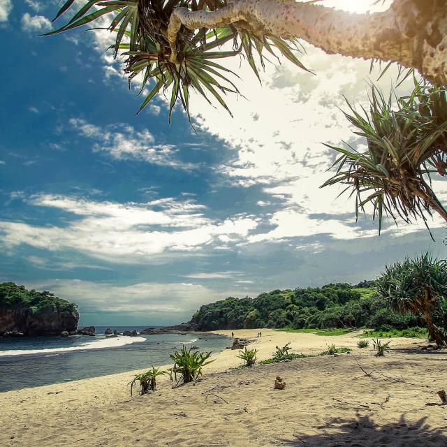 """Ngjungwok Beach"" stock image"