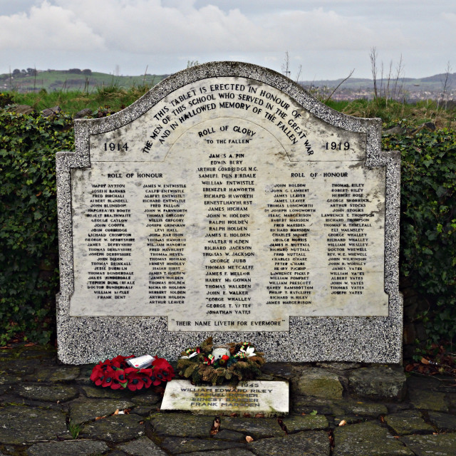"""War Memorial in Lancashire"" stock image"