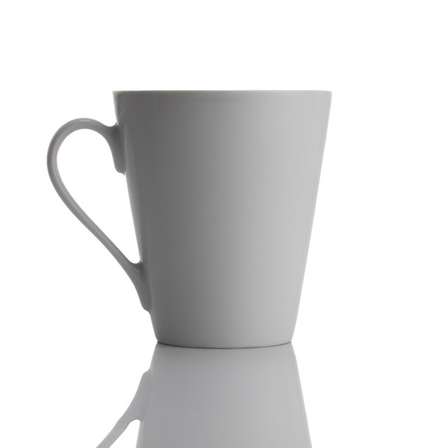 """""""White ceramic cup isolated on white background"""" stock image"""