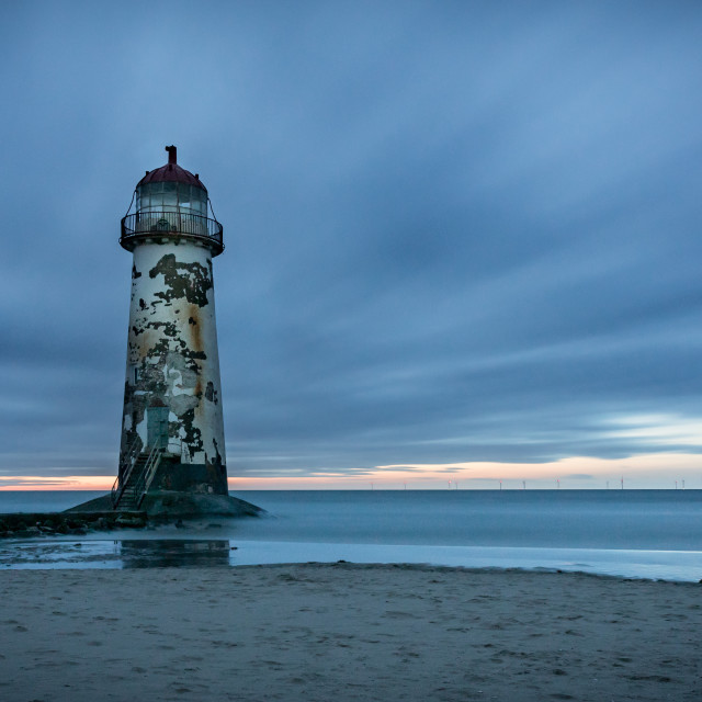 """Talacre Long Exposure"" stock image"