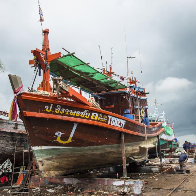 """""""Boat Yard Chaos"""" stock image"""