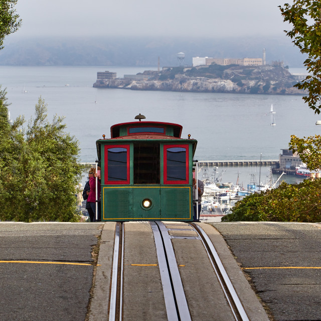 """""""Cable Car in San Francisco"""" stock image"""