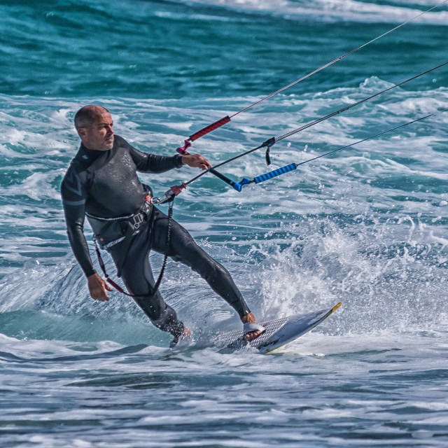 """Kite surfer"" stock image"
