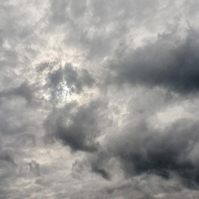 """Sun Behind A Cloudy Sky"" stock image"