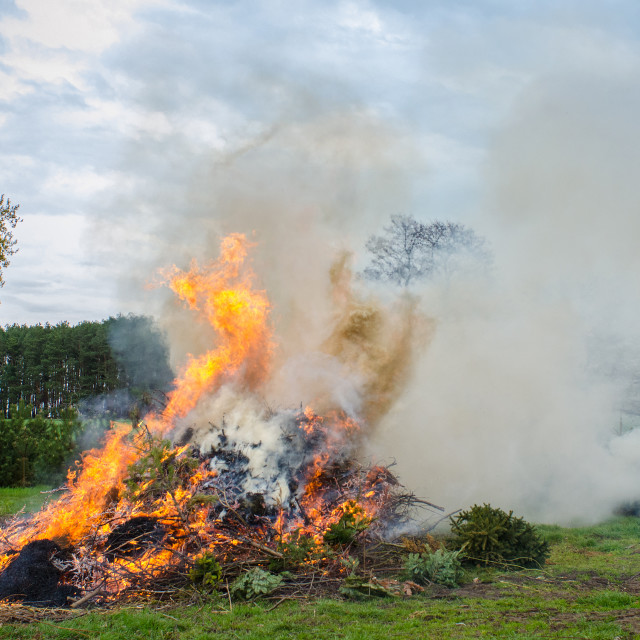 """Rural Easter Bonfire"" stock image"