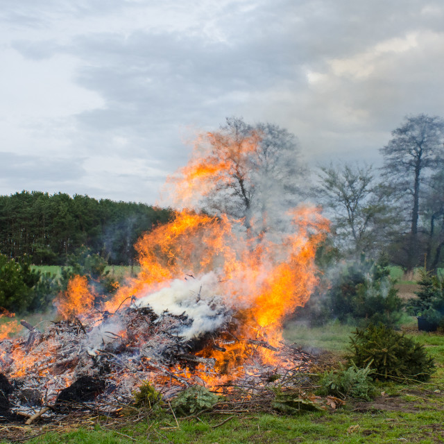 """""""Easter fire in rural Europe"""" stock image"""
