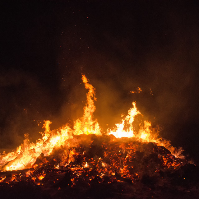 """""""Flames In The Night"""" stock image"""