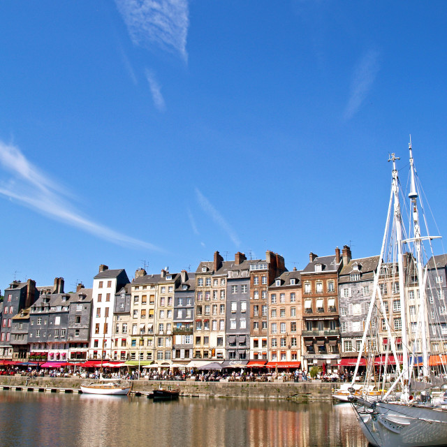 """""""The Old Harbour at Honfleur"""" stock image"""