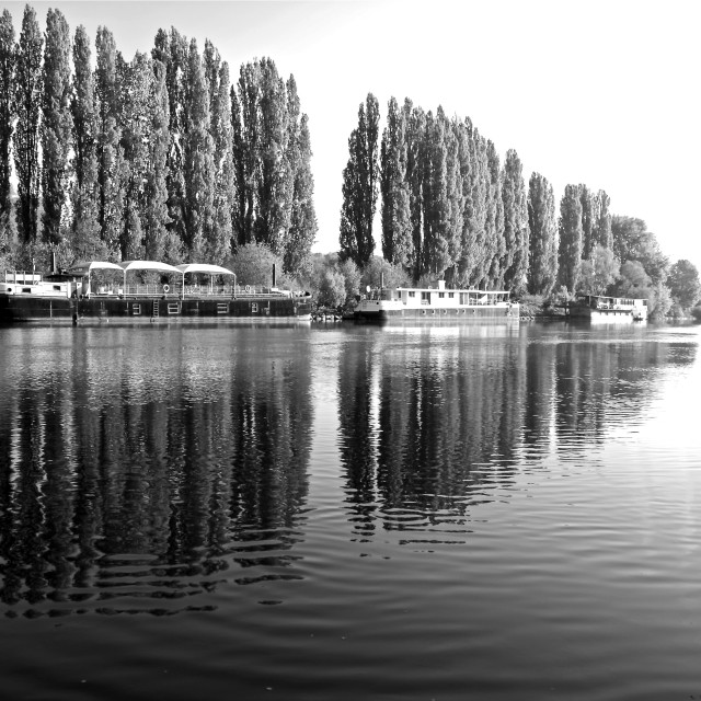 """""""The River Oise"""" stock image"""