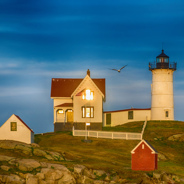 """Cape Neddick Lighthouse, Maine, USA"" stock image"