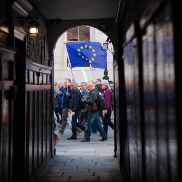 """March against Brexit"" stock image"