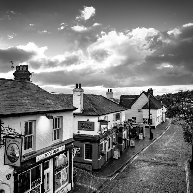 """""""Old Leigh High Street."""" stock image"""