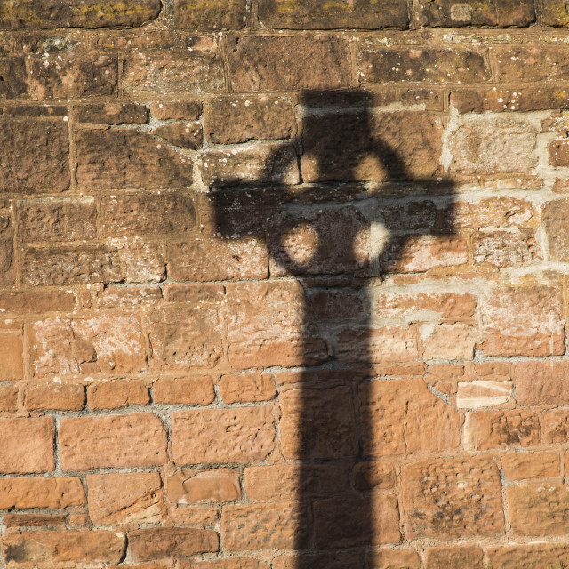 """Greasby Celtic Cross Silhouette"" stock image"