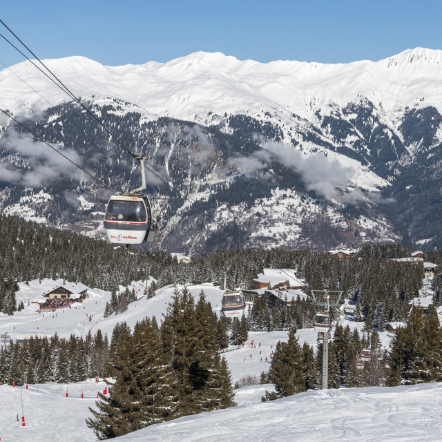 """Courchevel 1850"" stock image"