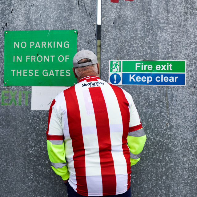 """Lincoln City FC - Imps back into the Football League.UK"" stock image"
