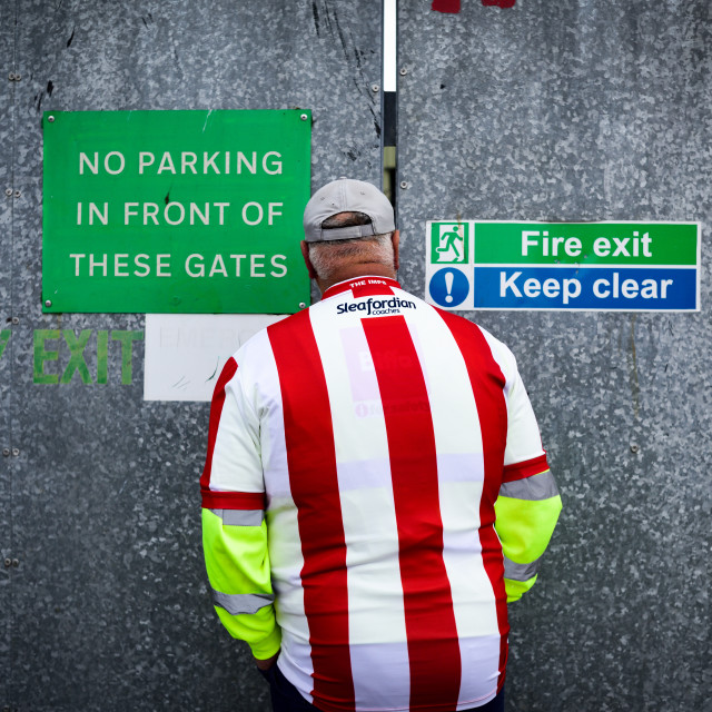 """""""Lincoln City - Imps back into the Football League,UK"""" stock image"""