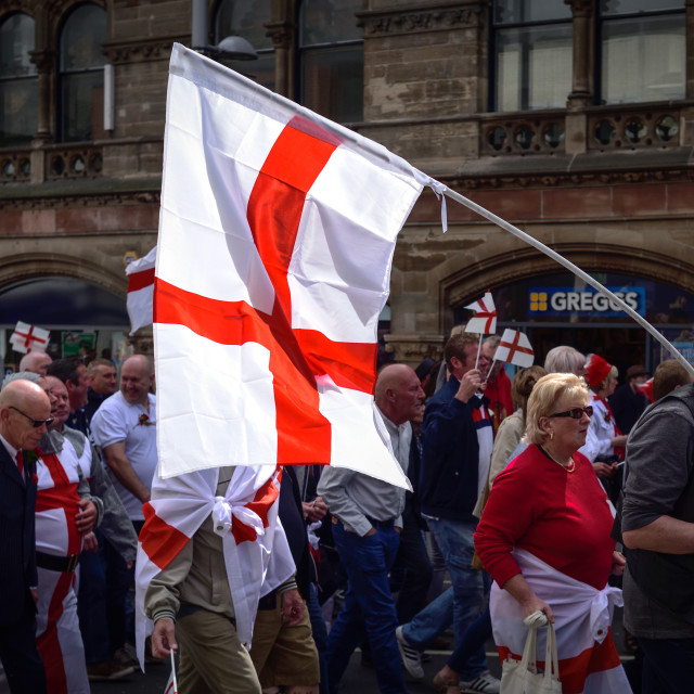 """St Georges Day in Nottingham,UK."" stock image"