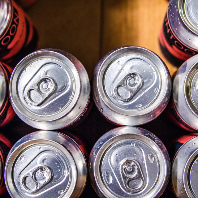 """""""Beer Cans"""" stock image"""