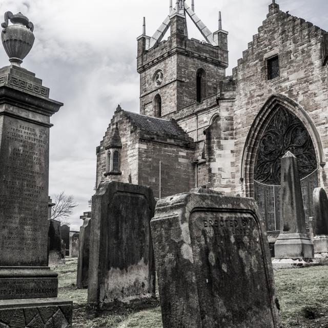 """St.Michael's Parish Church, Linlithgow"" stock image"