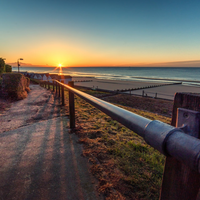 """""""Approach to Frinton Sunrise"""" stock image"""