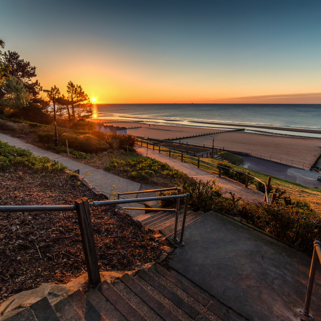 """""""Steps To Sunrise in Frinton"""" stock image"""