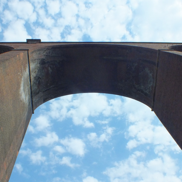 """""""Horden viaduct."""" stock image"""
