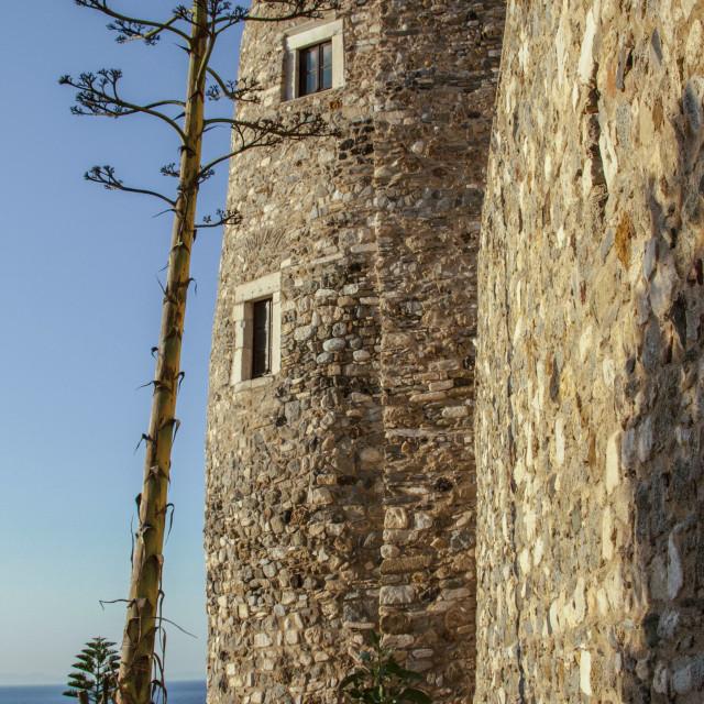 """""""Tower at Naxos Island"""" stock image"""