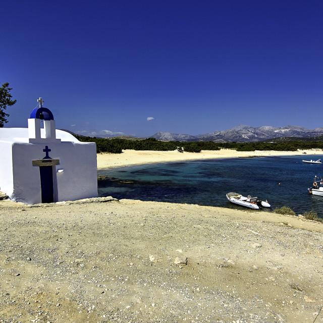 """""""Alyko beach Naxos"""" stock image"""
