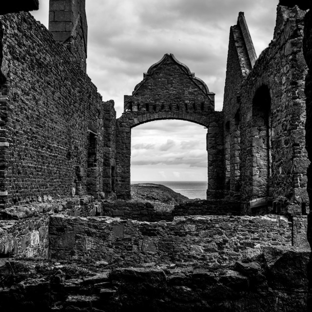 """New Slaines Castle"" stock image"